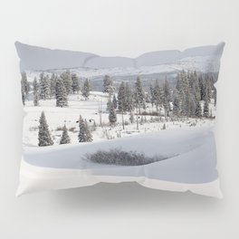 Yellowstone National Park - Blacktail Deer Plateau Panorama Pillow Sham
