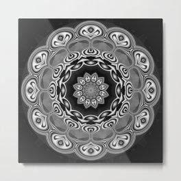 Black-white kaleidoscope B Metal Print
