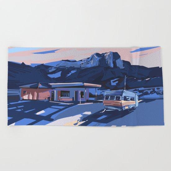 american landscape 3 Beach Towel