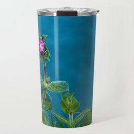 Red Campion on the Cliff Top Travel Mug