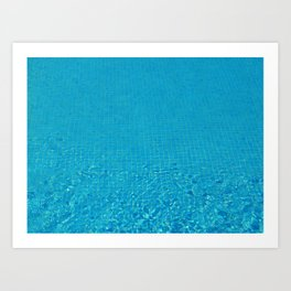 turquoise water love Art Print