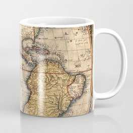 Map Of The Americas 1570 Coffee Mug