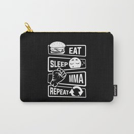 Eat Sleep MMA Repeat - Mixed Martial Arts Fighter Carry-All Pouch