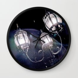 Frosted Lanterns Wall Clock