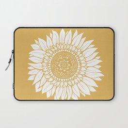 Yellow Sunflower Drawing Laptop Sleeve