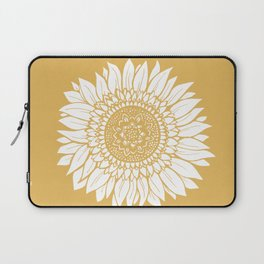 Yellow Sunflower Drawing Laptop Sleeve