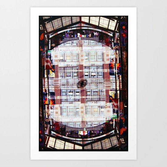 fashion district (35mm multi exposure) Art Print