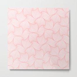 Pink optic art pattern Metal Print