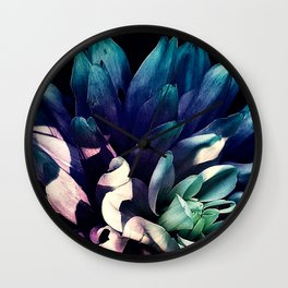 Pink Dahlia In the Last Rays of Sunset Wall Clock