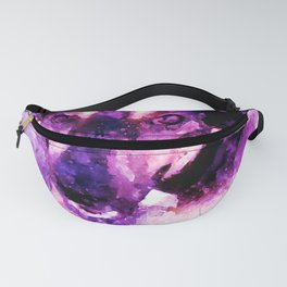 dog 3 perfect purple Fanny Pack