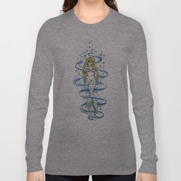 Coy little mermaid Long Sleeve T-shirt