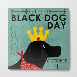 Black Dog Day Royal Crown Metal Print