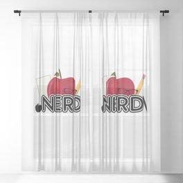 Nerd - Logo Sheer Curtain
