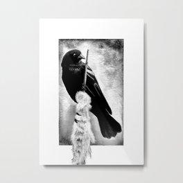 Perch Black Metal Print