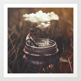 It Only Rains When I Go Sailing Art Print