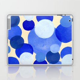 Colorful Blue White Watercolor Bubbles Laptop & iPad Skin