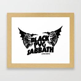 Pug Sabbath Framed Art Print