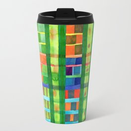 Colored Fields With Bamboo Travel Mug