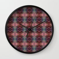 prism Wall Clocks featuring prism by cinefuck