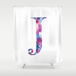 Letterforms J : Jennifer Shower Curtain