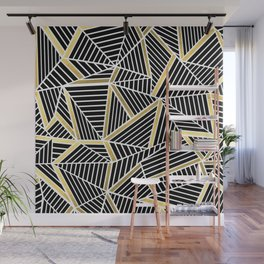 Ab Lines 2 Gold Wall Mural
