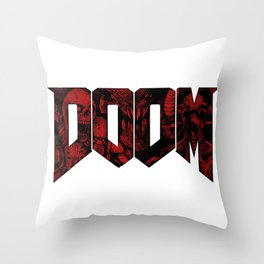 DOOM (Red version) Throw Pillow