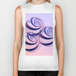 connected spirals Biker Tank