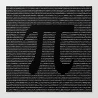 pi Canvas Prints featuring Pi by The Colour Wheel