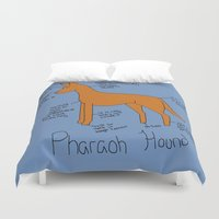 the hound Duvet Covers featuring Pharaoh Hound by Lindsay Beth