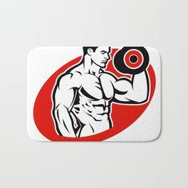 man fitness logo Bath Mat