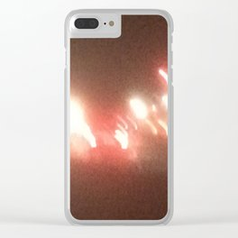 Abstracte Light Art in the Dark 8 Clear iPhone Case