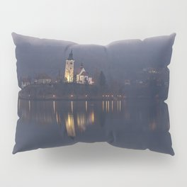 Misty Lake Bled At Night Pillow Sham
