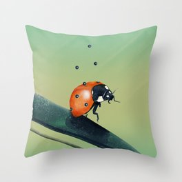 Oh, Bugger (Spring Version) Throw Pillow