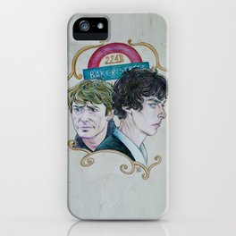 The Two of 221b Baker Street iPhone Case