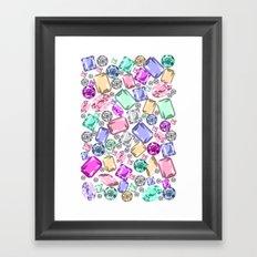 Jeweled Framed Art Print