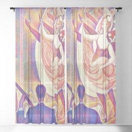 12,000pixel-500dpi - Georges Seurat - The Rumpus - Digital Remastered Edition Sheer Curtain