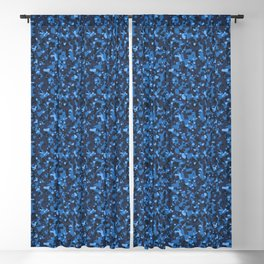 Blue Abstract Camouflage Blackout Curtain