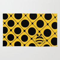 bee Area & Throw Rugs featuring Bee by glorya
