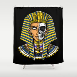 Egyptian Pharaoh Skull Shower Curtain