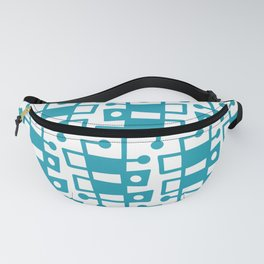 Mid Century Modern Abstract 213 Turquoise Fanny Pack