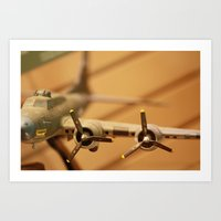 plane Art Prints featuring Plane by sannngat