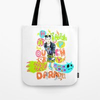 2ne1 Tote Bags featuring 2NE1 Happy: Sandara Park by Haneul Home