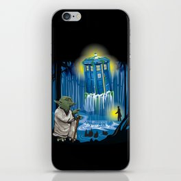 MAy the Tardis be with you! iPhone Skin