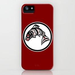 Northwest Pacific coast Haida art Salmon iPhone Case
