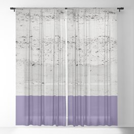 Ultra Violet on Concrete #3 #decor #art #society6 Sheer Curtain