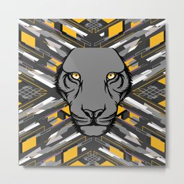 Big Cat & Blades Metal Print