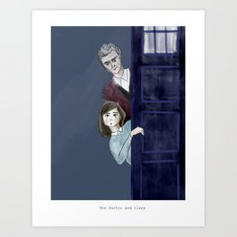 The Doctor and Clara Art Print