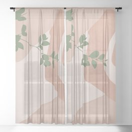 Peacefully Resting Sheer Curtain