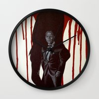 skyfall Wall Clocks featuring Skyfall by Caroline Ward