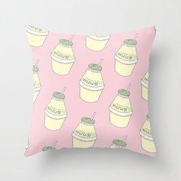 Banana Milk Throw Pillow